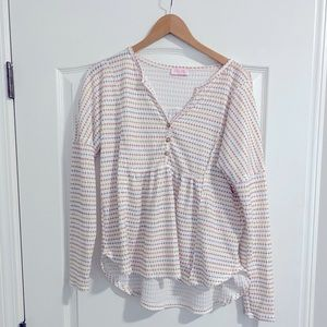 Pink Lily Striped Thermal